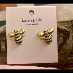 Kate Spade Picnic Perfect Bumblebee Stud Earrings